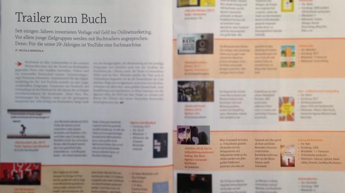 Börsenblatt Plus Dienstleister Erwähnt Grünewald Buchtrailer
