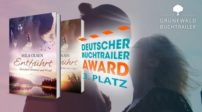 Buchtrailer Award 2019: Grünewald Buchtrailer Belegt 3. Platz Mit Mila Olsens Entführt Reihe