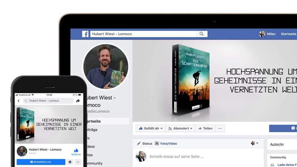 Buchtrailer als Facebook Titelvideo verwenden - Grünewald Buchtrailer
